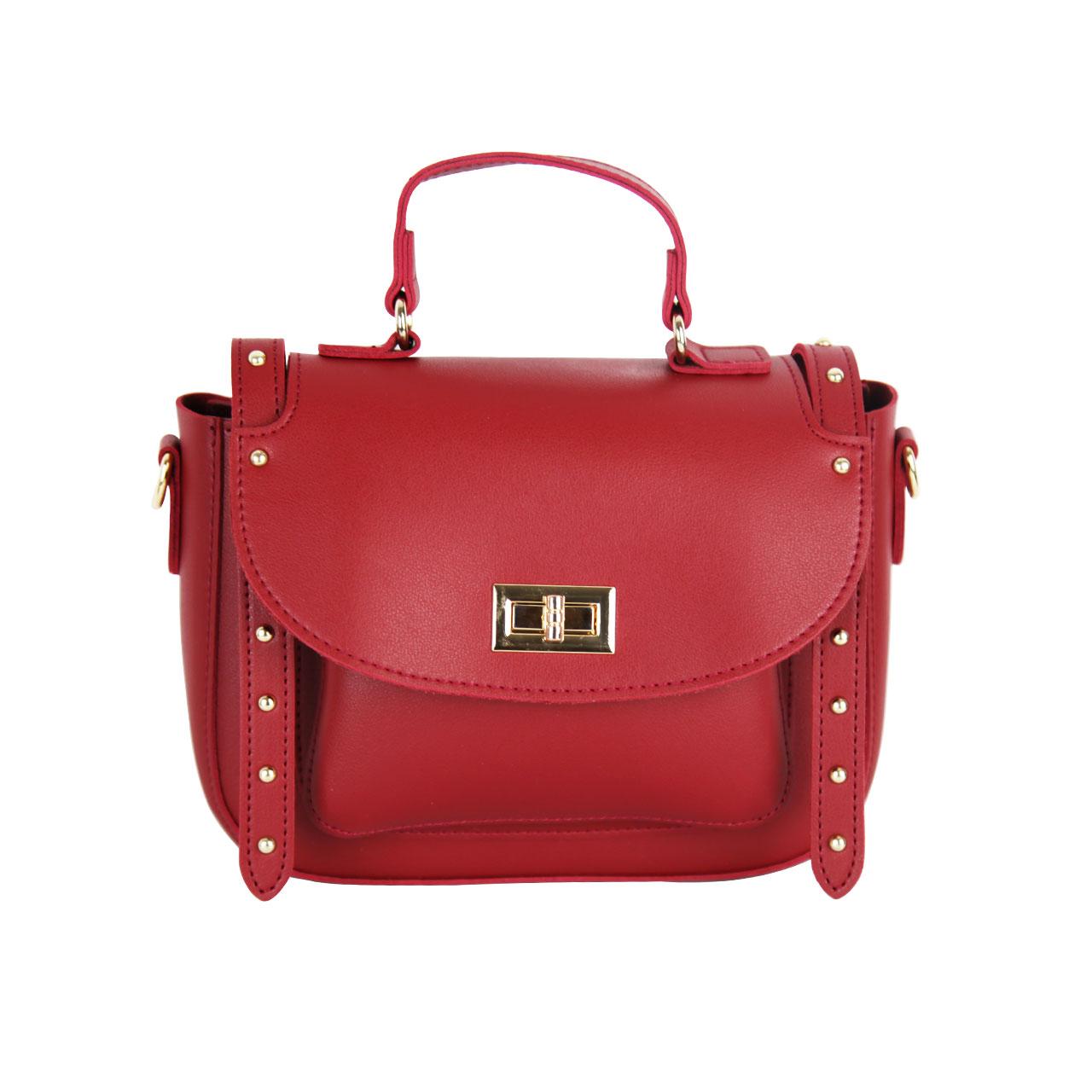 Oxford Red/Pink/White/Golden Metropolitan Leather Bag