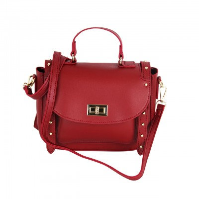Oxford Red/Pink/White/Golden Metropolitan Leather Bag