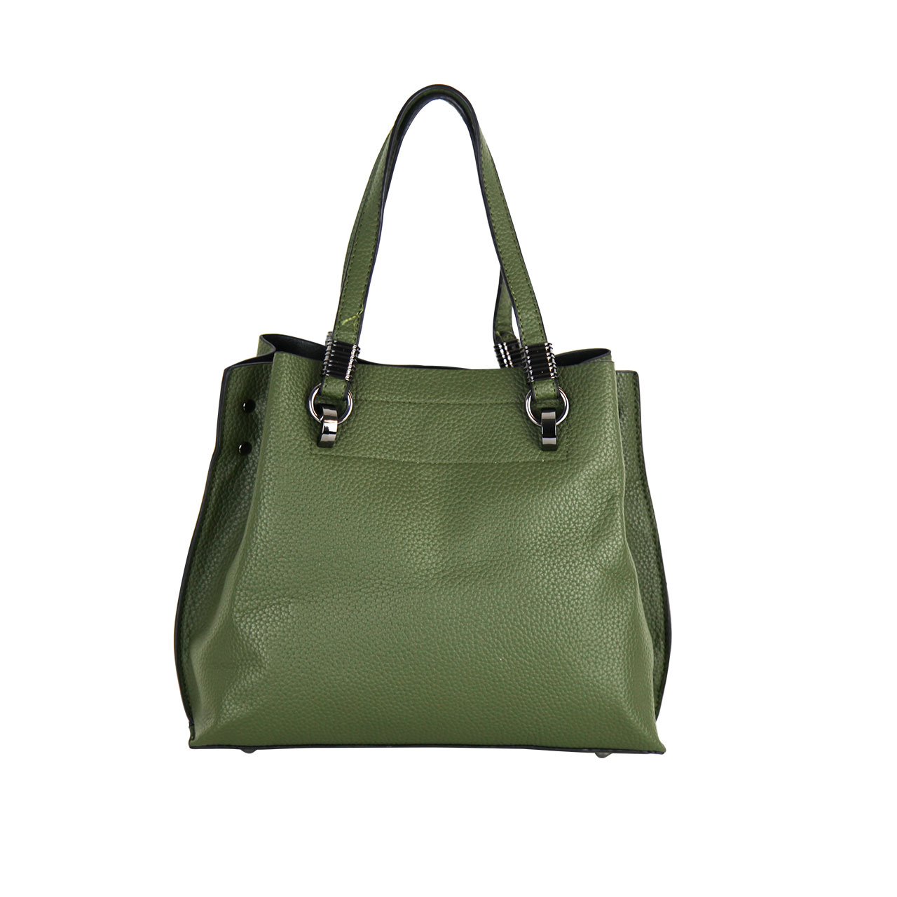High Impact Classic Structured Leather Green Tote