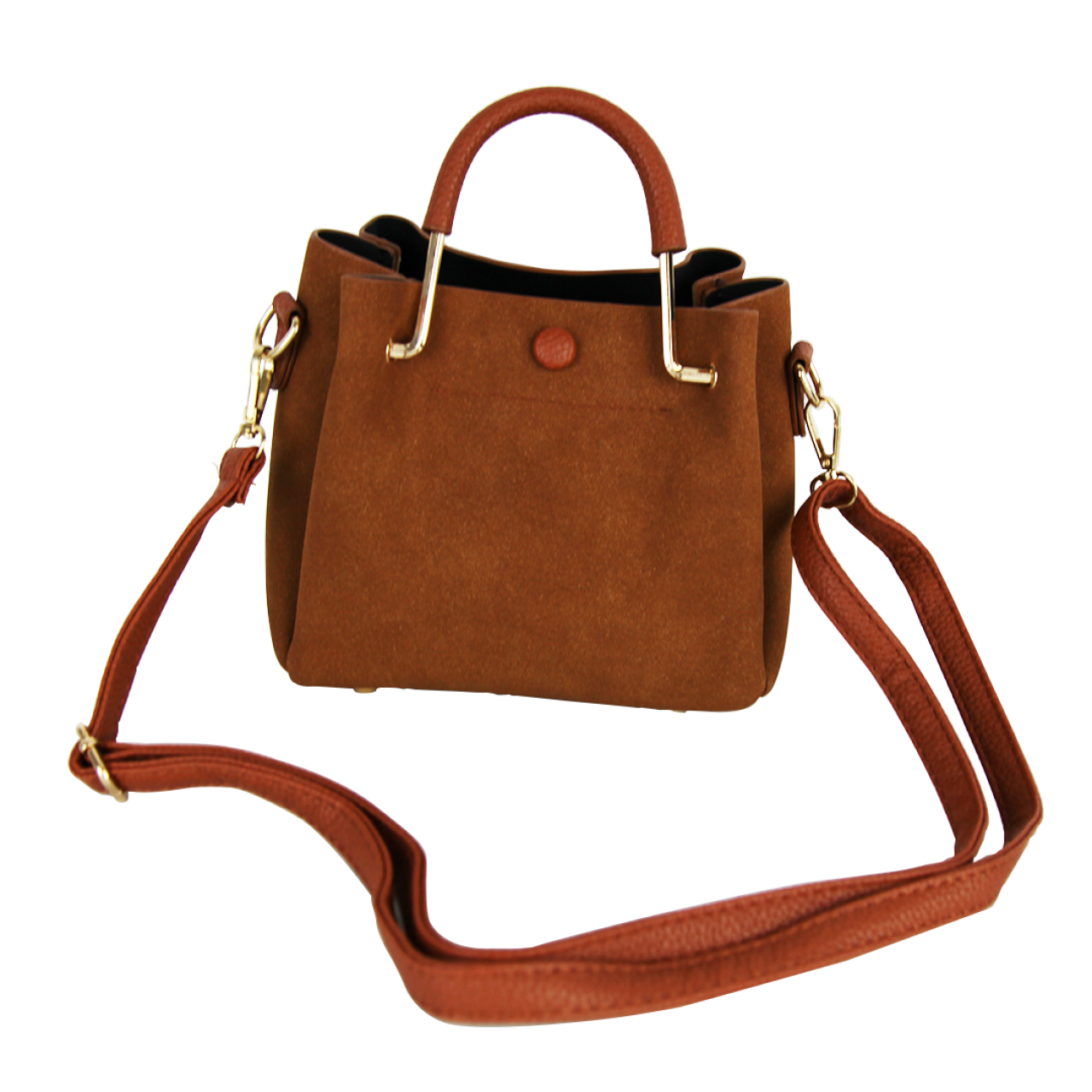 Casual Tote Brown/Blue 2 Pieces Bag Set