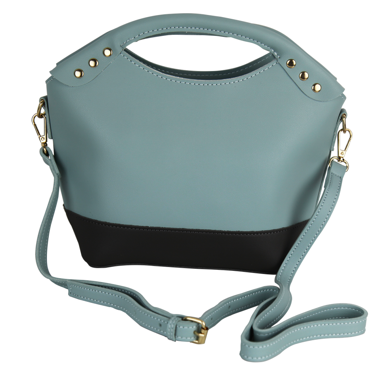 Compact Double Shaded Multi-Color Green/Brown/Blue Clutches Bag