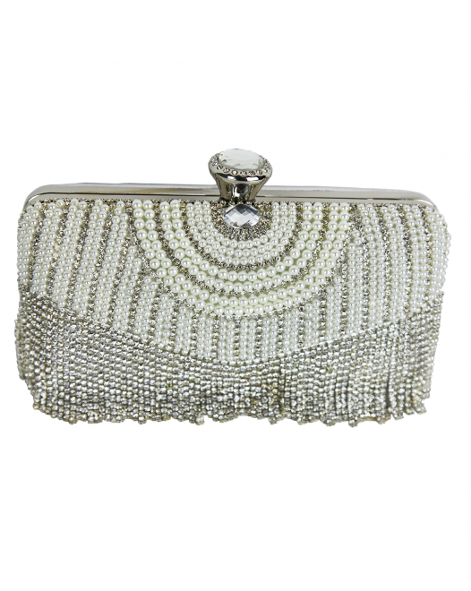 Casual Party White Clutch