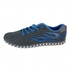 Men's Flat Heel Leather Ash Gray sneakers