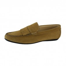 Men's Leather Slip-On Goldenrod Loafers
