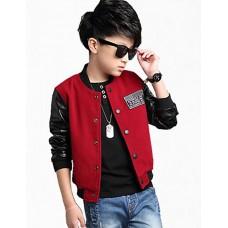 Boy's Cotton Spring Solid Jacket & Coat