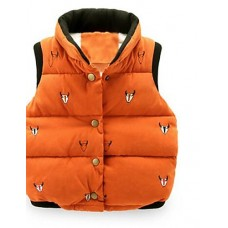 Boy Casual Print Polyester Winter Vest
