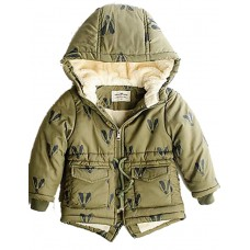 Boy Casual Cotton Padded Solid Down