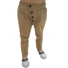 Boy's Pure Color Vintage Casual Pants