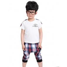 Boy's Casual Sleeve Tee Harem Pant Set