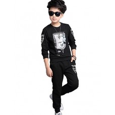 Boy's Casual Cotton Print Clothing Set