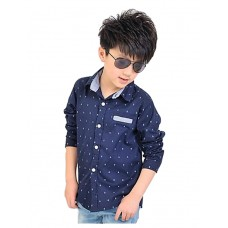 Boy's Polka Dot Long Sleeve Shirts