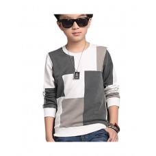 Boy Casual Cotton Solid Winter Blouse
