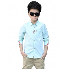 Boy Casual Cotton Solid Rayon Shirt