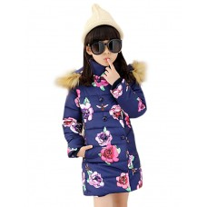 Girl's Floral Down Cotton Padded