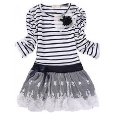 Girl's Solid Cotton Winter Dress