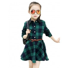 Girl's Casual Polyester Fall Dress