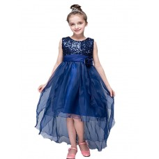 Girl's Party Solid Polyester Dress