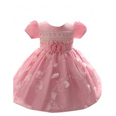 Girl's Party Polyester Solid Dress