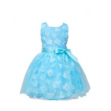Girl's Party Print Polyester Dress