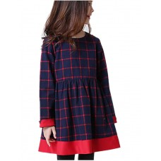Girl's Casual Cotton Fall Dress