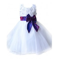 Girl Floral Ball Gown Party Dress