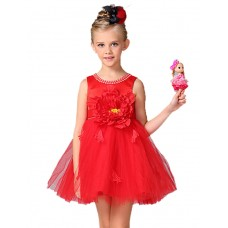 Girl's Going out Party Solid Dress