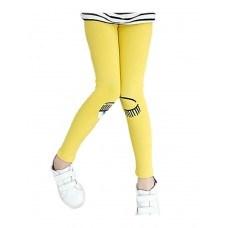 Girl Casual Solid Rayon Pants