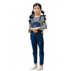 Girl Casual Solid Spring Jeans