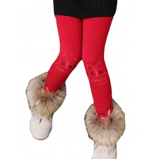 Girl Casual Solid Winter Pants