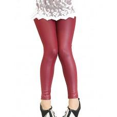 Girls Thin Leather Leggings