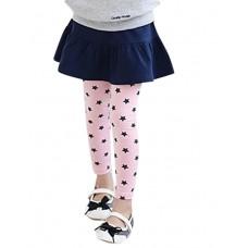 Girl's  Embroider Stars Leggings