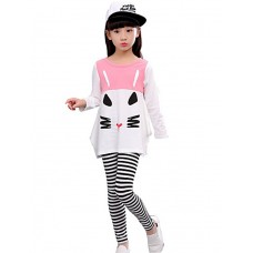 Girls Printed Leggings Two-Piece Outfit