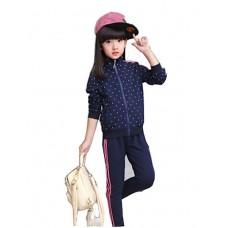 Girl Casual Polka Dot Polyester Sets