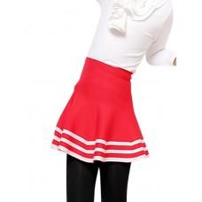 Girl Fall Striped Polyester Skirt