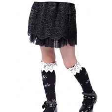 Girls Han Edition Black Lace Skirts