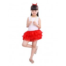 Girl's Casual Cotton Blend Skirt