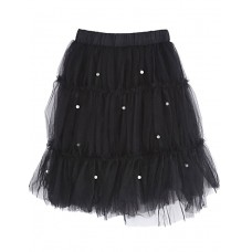 Girl's Casual Solid Cotton Skirt