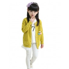 Girl's Party Print Sweater & Cardigan
