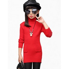 Girl's Casual Solid Sweater & Cardigan