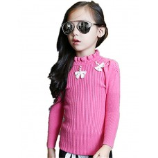 Girl's Wild Solid Sweater & Cardigan