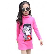 Girl Printed Turtleneck Sweatshirt