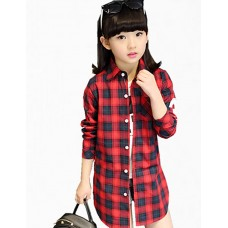 Girl Casual Cotton Solid Shirt