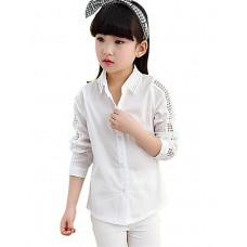 Girl's Solid Cotton Spring Shirt