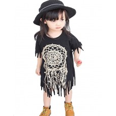 Girl Casual Cotton Print Tee