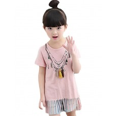 Girl Casual Solid Cotton Blouse