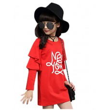 Girl Casual Solid Cotton Fall Shirt