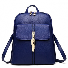 Women's Korean Solid Leather Backpack