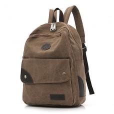 Men Canvas School Laptop Backpack