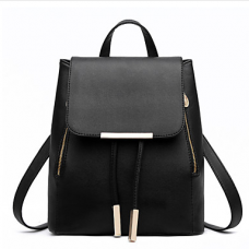 Women Polyester Casual Beige Backpack