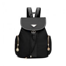 Women PU Casual Black Backpack